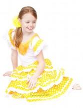 Flamenco Kleid gelb weiß