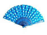 Flamencofächer blau weiß