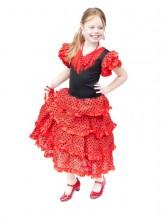 Flamenco Kleid Spanische Kostüme rot schwarz