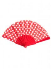 Flamencofächer rot weiß