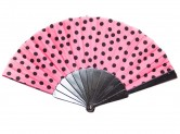 Flamencofächer rosa schwarz