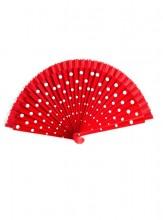 Flamencofächer rot weiß holz