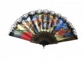 Flamencofächer mit Spitze groß modell, schwarz oder weiß