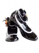 Spanische Schuhe schwarz Lack