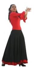 Flamencorock Damen, schwarz/rot
