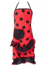 Spanische Flamencoschürze rot/schwarz