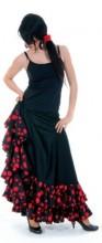 Flamenco rock Damen, mit Punkten und Volants