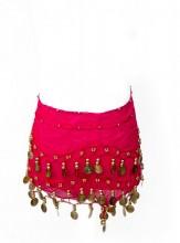 Spanisches Tanztuch mit Münzen hell rosa
