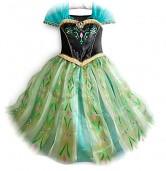 Prinzessinnen kleid Anna Frozen Kostüm grün