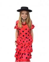 Flamenco Kleid Luxe mit Fransen rot schwarz