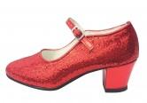 Spanische Schuhe rot Glamour