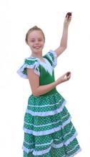 Flamenco Kleid grün weiß NEU