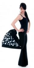 Flamenco Hose schwarz mit weißen Punkten