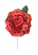 Spanische Flamenco rose, rot schwarz