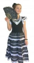 Flamenco Kleid schwarz weiß