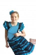 Flamenco Kleid schwarz blau