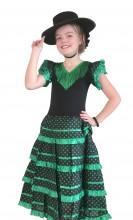 Flamenco Kleid grün schwarz