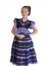 Flamenco Kleid violett schwarz