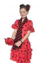Flamenco Kleid Deluxe rot schwarz