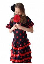 Flamencokleid Deluxe Spanische Kleidung schwarz rot