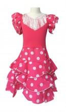 Flamenco Kleid Niño Deluxe rosa weiß