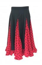 Flamencorock Kinder, rot mit schwarzen Punkten