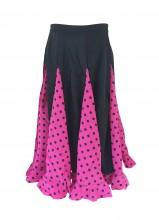 Flamencorock Kinder, rosa mit schwarzen Punkten