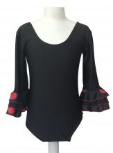 Flamenco body Kinder schwarz mit Punkten