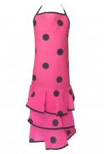 Spanische Flamencoschürze rosa/schwarz