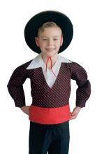 Kostüm Chico Jungen schwarz rot
