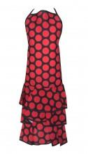 Spanische Flamenco Schürze schwarz/rot große Punkten