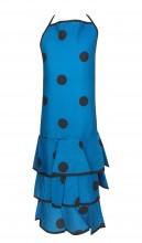 Spanische Flamenco Schürze blau/schwarz