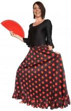 Flamenco rock Damen, schwarz mit roten Punkten