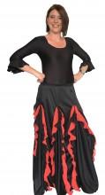 Flamenco rock Damen, mit Rote Volants