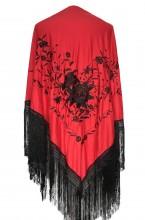 Spanischer Manton/Tuch Rot Schwarz Large