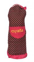 Spanische Schürze España schwarz rot