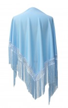 Spanischer Manton/Tuch, leicht blau