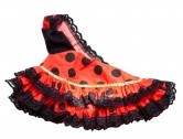 Flamenco Kleid schwarz rot für Barbie