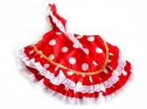 Flamenco Kleid rot weiß für Barbie