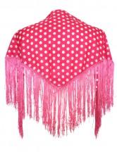 Spanischer Manton/Tuch hell rosa mit Punkten Kinder