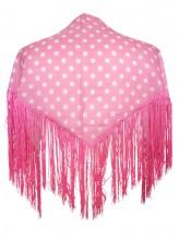 Spanischer Manton/Tuch leicht rosa mit Punkten Kinder