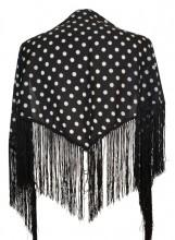 Spanischer Manton/Tuch schwarz mit Punkten Kinder