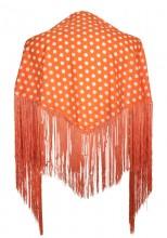 Spanischer Manton/Tuch orange mit Punkten Kinder