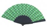 Flamencofächer grün weiß