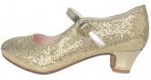 Prinzessinnen Schuhe Elsa Frozen gold mit kleines Herzchen