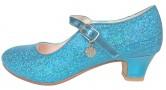 Prinzessinnen Schuhe Elsa Frozen blau mit kleines Herzchen