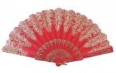 Flamencofächer rot glitzer