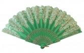 Flamencofächer grün glitzer