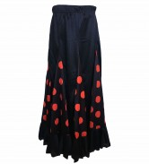 Flamenco Rock Kinder schwarz mit roten Punkten