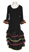 Flamenco Kleid Deluxe España schwarz